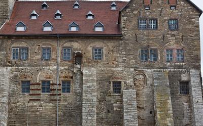 Weissensee, Runneburg. Südansicht, Detail