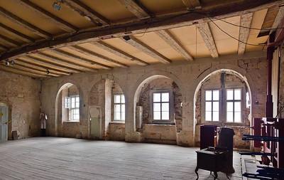 Weissensee, Runneburg. Festsaal im westl. Obergeschoss, Blick nach Südosten