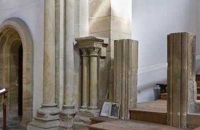 Thalbürgel, ehem. Klosterkirche: Reste des ehem. Lettners