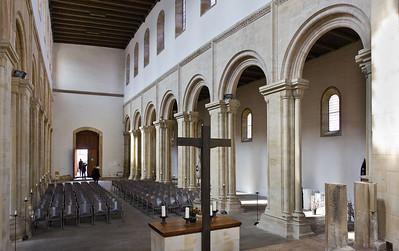 Thalbürgel, ehem. Klosterkirche: Längsschiff nach Westen