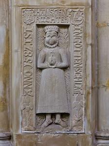 Thalbürgel, ehem. Klosterkirche: Grabplatte von Hänsgen Richter