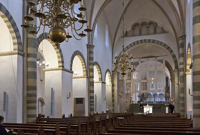Freckenhorst, ehem. Stiftskirche, Längsschiff nach Osten