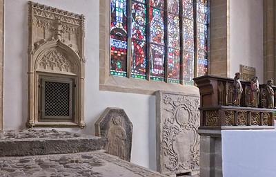 Herford, Münsterkirche, Nordostecke Chor