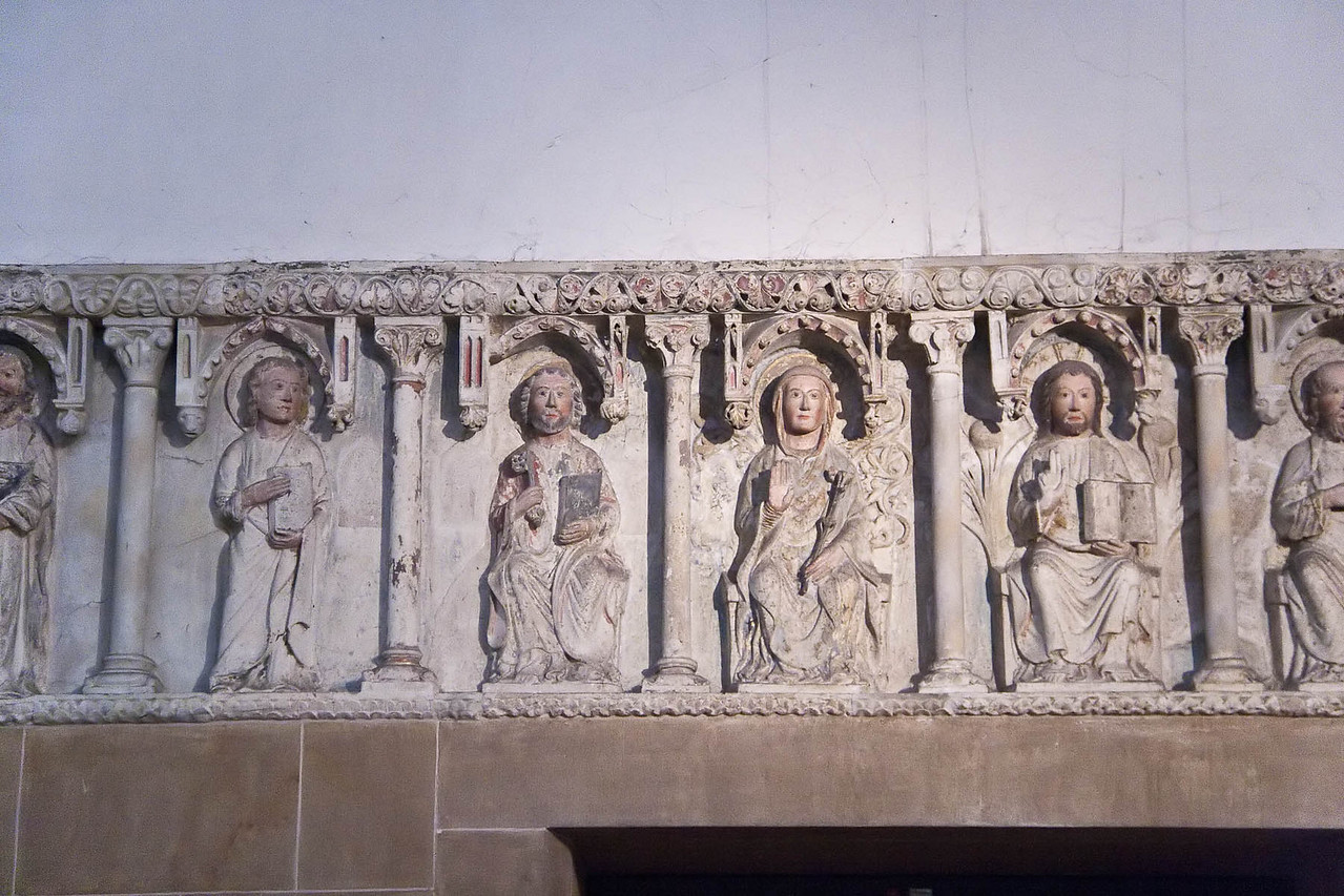 Minden, Dom, Apostelfries vom ehemaligen Lettner, 2. H. 13. Jh.