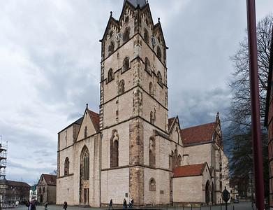 Herford, Münsterkirche, Blick von Südwest