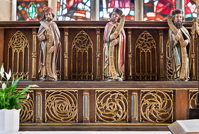 Herford, Münsterkirche, Detail der Predella des Choraltars