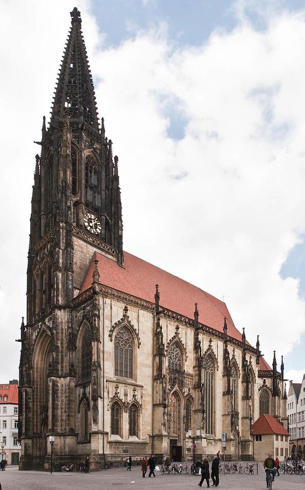 Münster, Lambertikirche von Süden