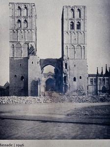 Münster, Dom Westfassade, 1945