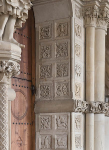 Münster, Dom, Paradiesvorhalle, Kassetten des Portals