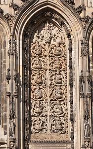 Münster, Lambertikirche, Relief der Wurzel Jesse über Südportal (vollst. erneuert)