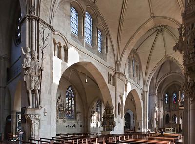 Münster, Dom, Blick ins nördliche Seitenschiff
