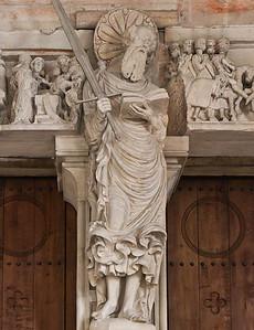 Münster, Dom, Paradiesvorhalle, Portalpfosten: Paulus  (H. Brabender, 1536)