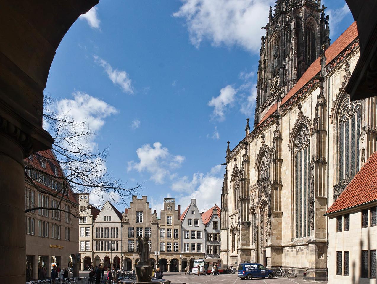 Münster, Lambertikirche und Prinzipalmarkt