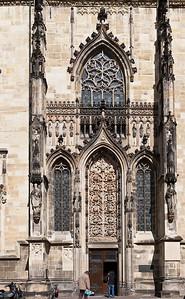 Münster, Lambertikirche, Südportal mit Wurzel Jesse