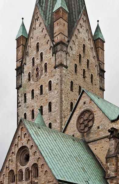Paderborn, Turm des Doms von Südwest