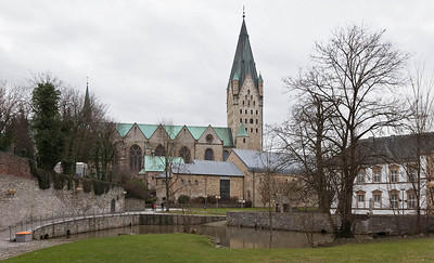 Paderborn, Dom und Kaiserpfalzmuseum von Osten