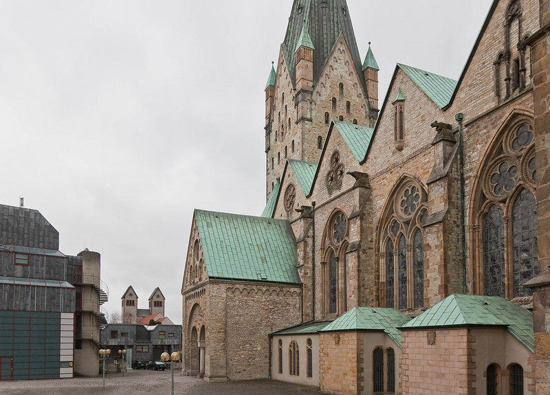 Paderborn, Dom, Südfassade