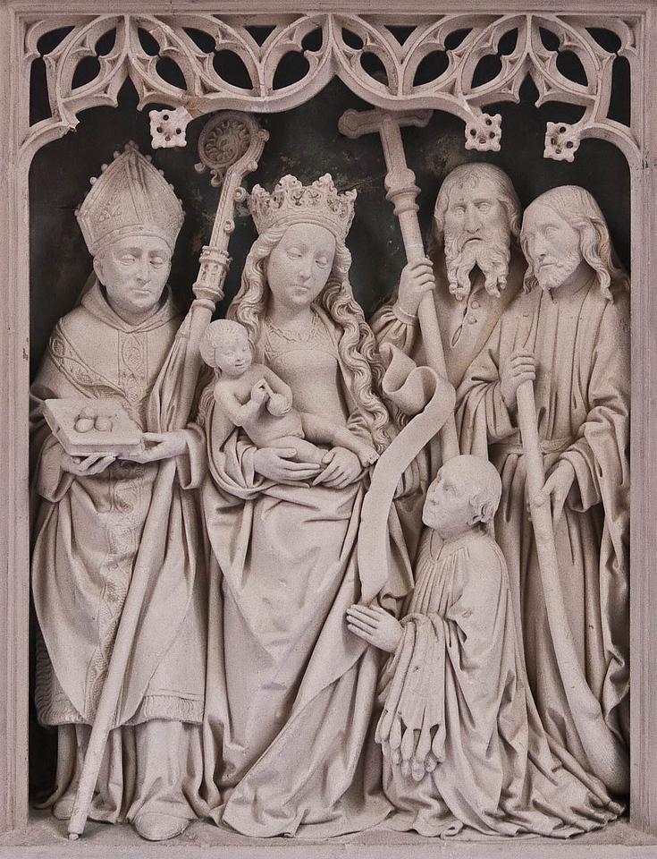 Paderborn, Dom, Westphalenepitaph in Westphalenkapelle (Heinrich Brabender, um 1517)
