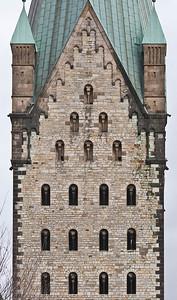 Paderborn, Turm des Doms von Westen