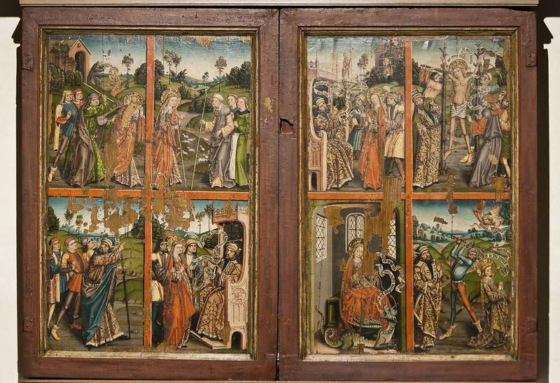 Paderborn, Flügelaltar des Gert van Loon, Leben der hl. Margarethe (um 1500)