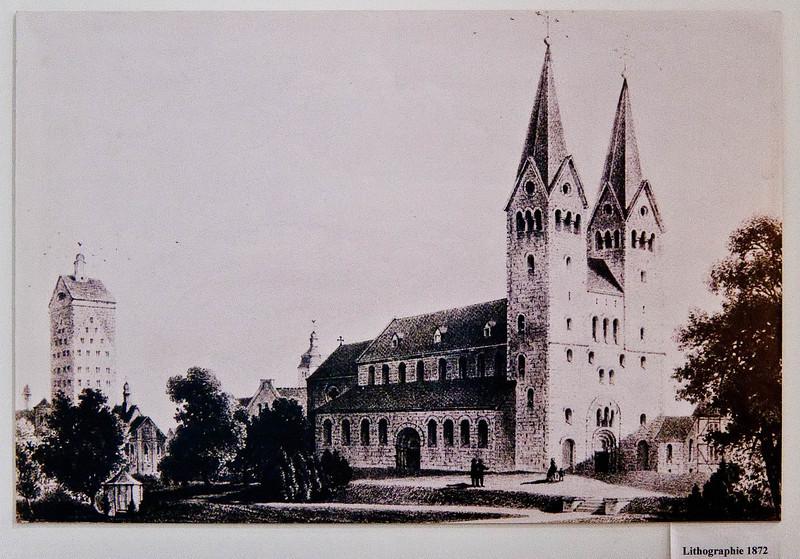 Paderborn, Abdinghofkirche und Dom 1872