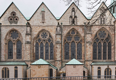 Paderborn, Dom Südfassade