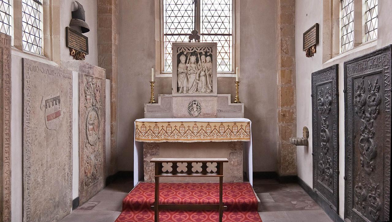 Paderborn, Dom, Westphalenkapelle im Kreuzgang