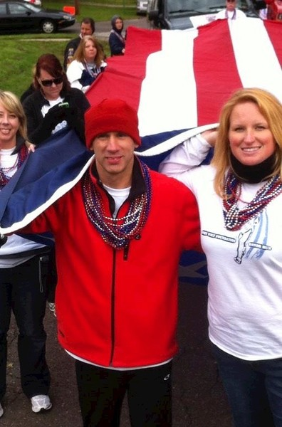 (foreground) Jeff Ortega and Beth Ortega at John Wilt Foundation 5K Race in O'Fallon.