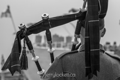 Bagpiper, Halifax Harbour, Nova Scotia