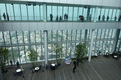 "The observation deck is called ""Harukas 300"" and occupies the building's top three floors (floors 58 to 60)"