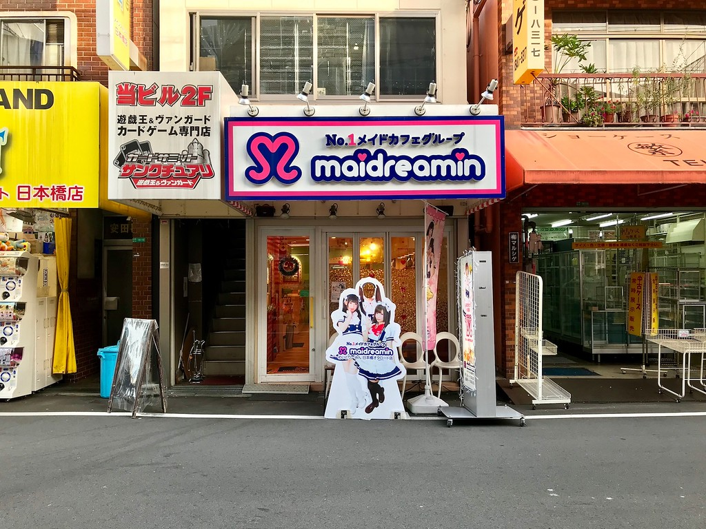 Maidreamin, one of the maid cafes in town.