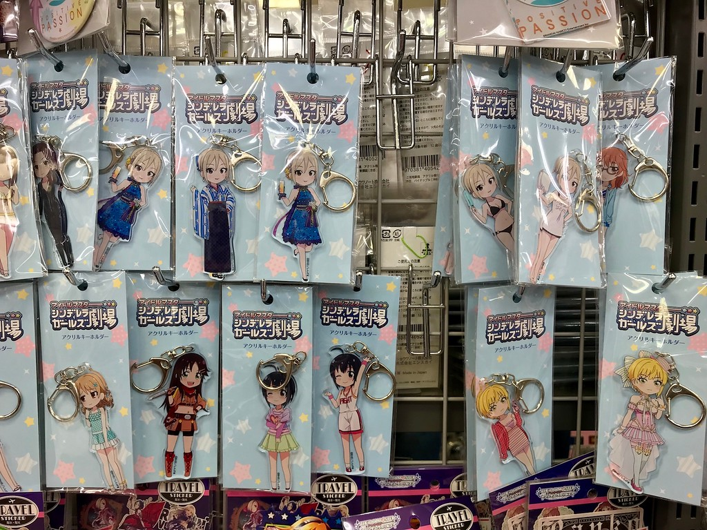 Character keychains.