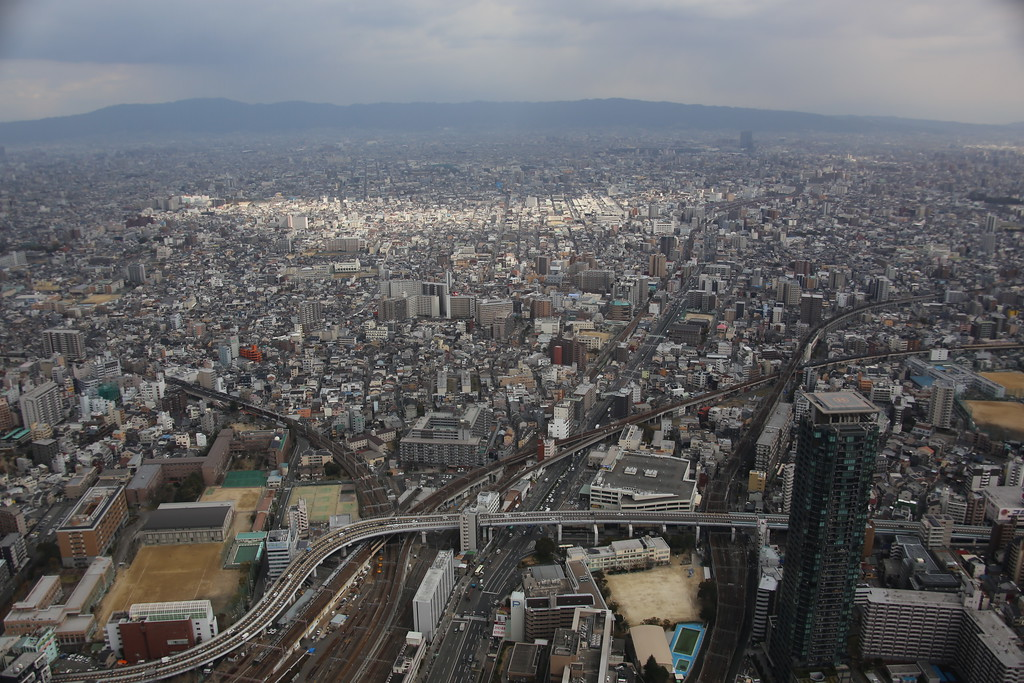 The view from the top of Osaka.