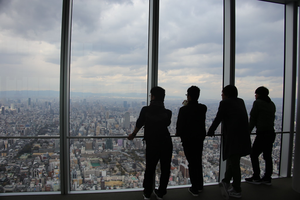 The views from the 60th floor observatory are some of the best in Kansai.