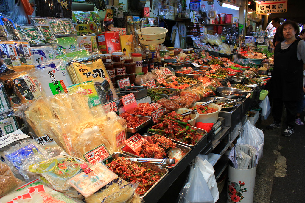Vibrant food market in Korea Town