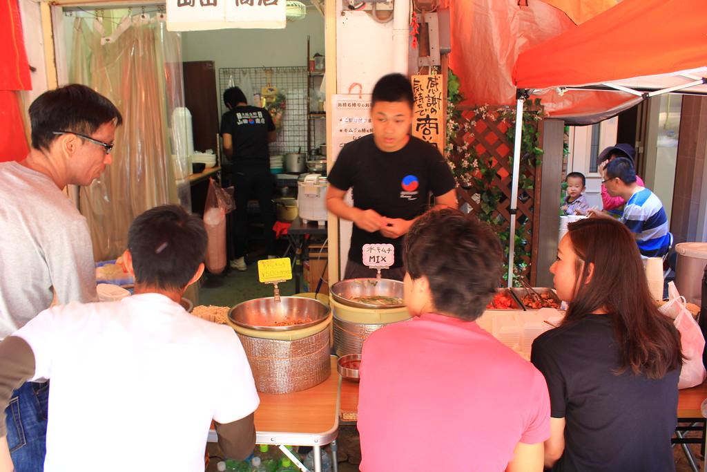 Local patrons ordering at Yamada Syouten