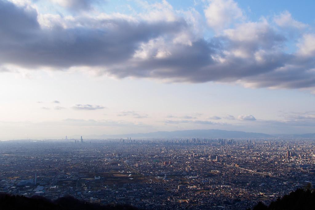 View from Ikoma over Osaka