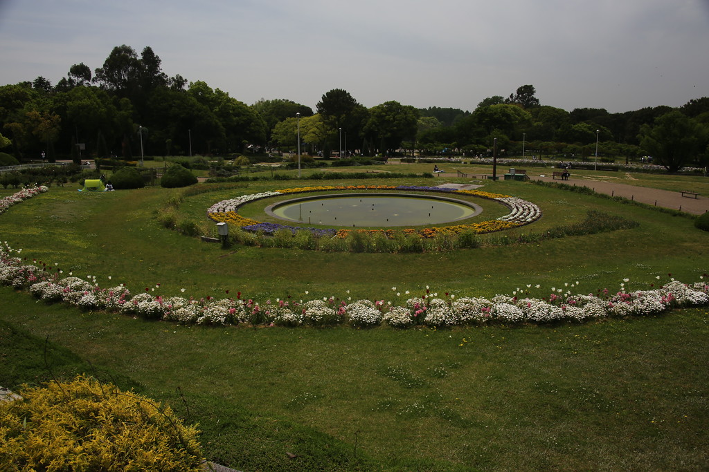 The flower garden at Ryokuchi-koen Park