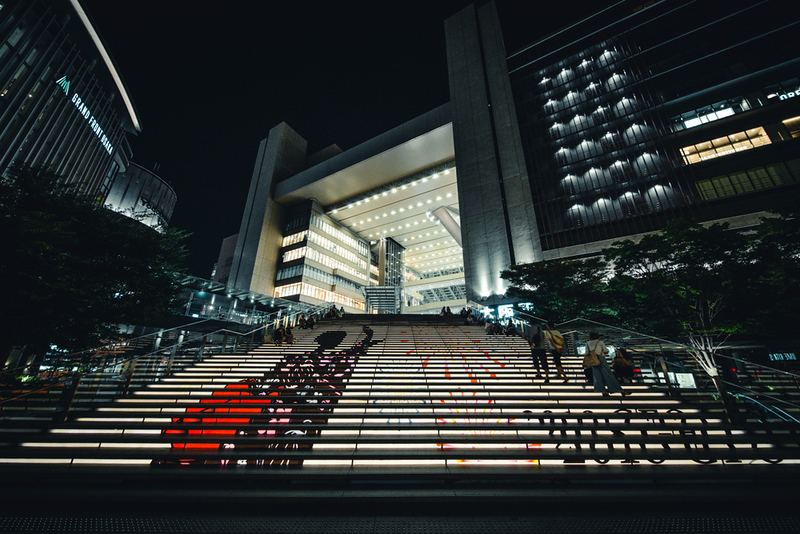 Steps at JR Osaka Station