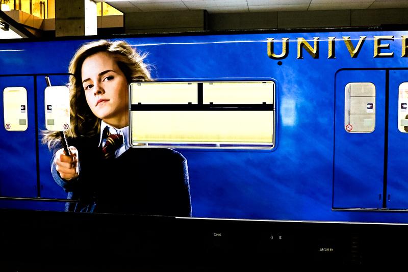 Harry Potter-themed JR Yumesaki train bound for Universal Studios Japan