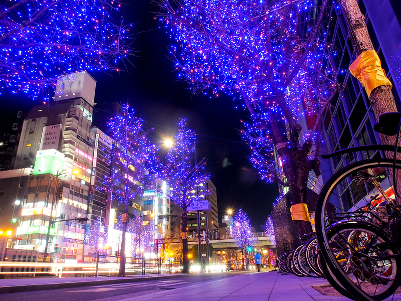 Minami District with winter lights