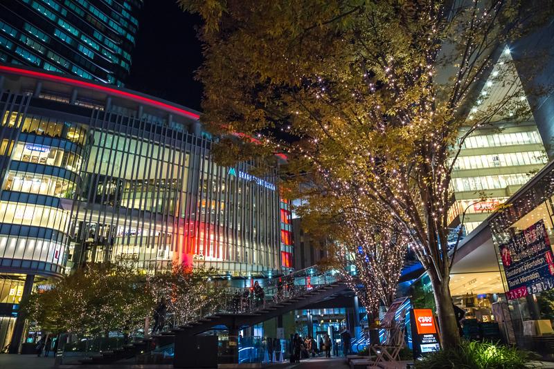 Osaka Station with winter lights