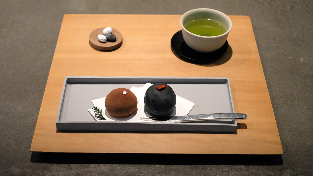 Daifuku mochi and tea at Shizuku.