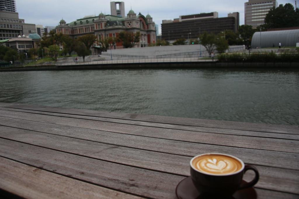 Latte on the terrace