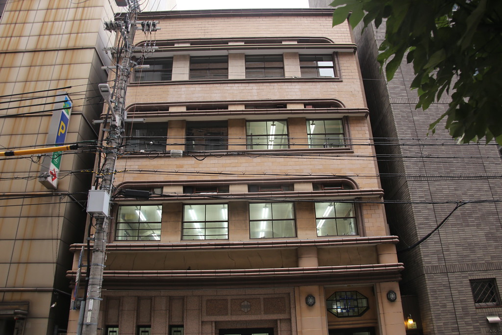 Ogawa facade with electrical wires