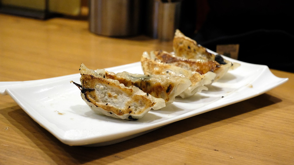 Garlic-free gyoza.