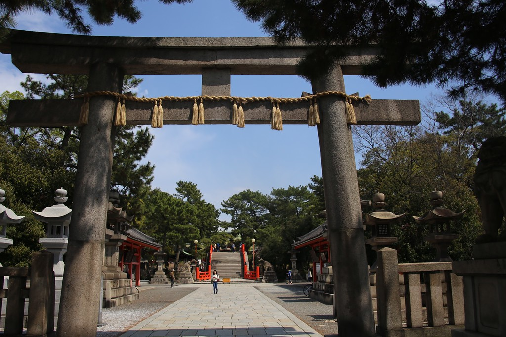 The main gate of Sumiyoshi Taisha