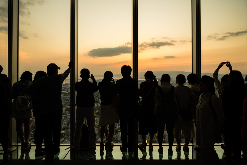 Enjoying the view at Abeno Harukas. Editorial credit: twoKim images / Shutterstock.com