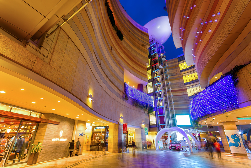 Namba Parks shopping complex. Editorial credit: cowardlion / Shutterstock.com