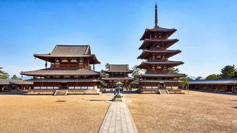 Horyu-ji Temple in Nara. Editorial credit: Vladimir Zhoga / Shutterstock.com